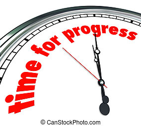 Time for Progress Clock Forward Movement Innovation - Time...