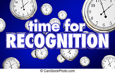 Time for Recognition Appreciation Clocks Honor 3d...