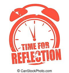 Time for Reflection - minimalistic illustration of a grungy...