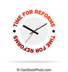 Time For Reforms Clock