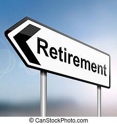 Time for retirement. - illustration depicting a sign post...