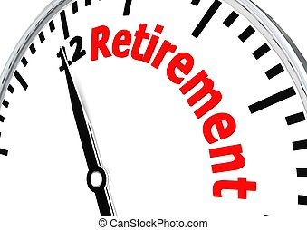 Time for retirement - Rendered artwork with white background