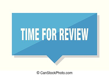 time for review price tag - time for review blue square ...