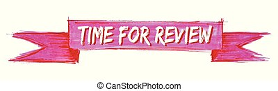 time for review ribbon - time for review hand painted ribbon...