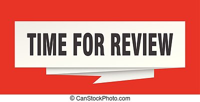 time for review sign. time for review paper origami speech ...