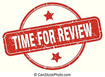 time for review sign - time for review vintage round ...