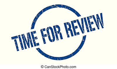 time for review stamp - time for review blue round stamp