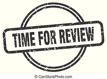time for review vintage stamp. time for review sign
