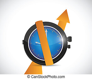 time for rising profits. illustration design