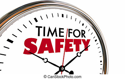 Time for Safety Clock Security Protection Steps 3d Illustration
