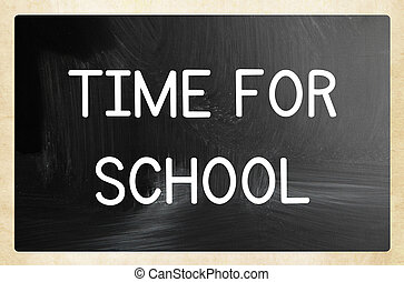 time for school concept