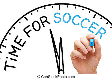 Time For Soccer Clock Concept