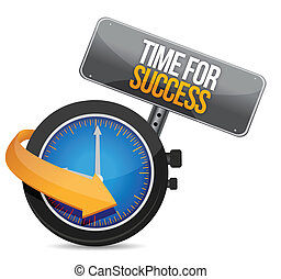 Time for Success illustration design over a white background