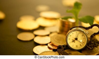 Time for Success of Finance Business. Investment, business financial ideas concept. Management efficiency, time is money