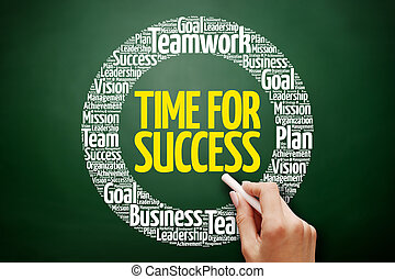 Time for Success word cloud collage