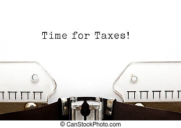 Time for Taxes Typewriter