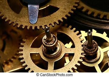 time gear inside my rare clock