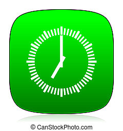 time green icon for web and mobile app