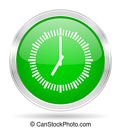 time green modern design web glossy icon