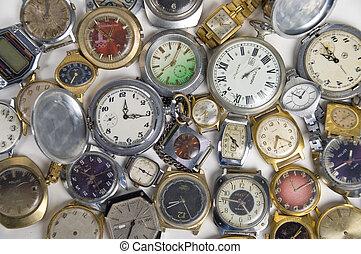 time., horas, mecanismos