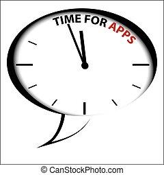 """time, horloge, bulle, apps"""