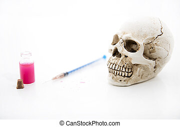 time., humain, photo, maladie, concept abstrait, skull., médecine