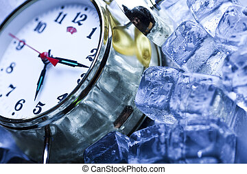 Time, ice and clock - The photography of classical alarm...