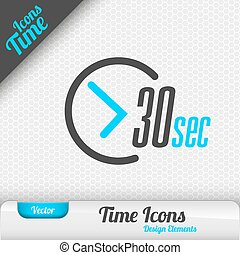 Time Icon 30 Seconds Symbol Vector Design Elements - Time...