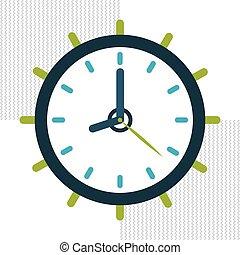 time icon design - time concept with icon design, vector...