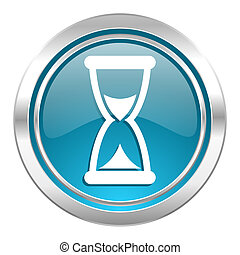 time icon, hourglass sign