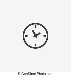 Time icon, isolated, white background
