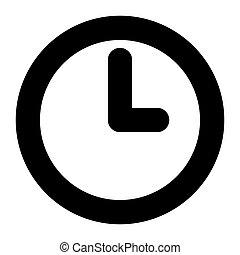 time icon on white background