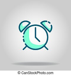 time icon or logo in  twotone - Logo or symbol of time icon ...