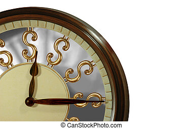 Time is gold, time is money! A clock with golden dollar signs as numbers