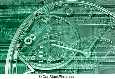 Time is Money Background 3D
