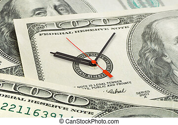 Time is money, business background