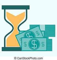 Time is money business concept in modern flat design. Eps10 vector illustration.