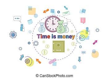 Time Is Money, Business Schedule Management Deadline Concept Web Banner