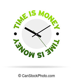 Time is Money Clock - Clock with the words time is money on...