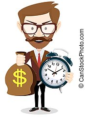 Time is money concept background. Money saving. Time management