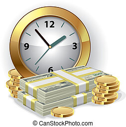 Time is money concept - Office Clock and money. Time is...