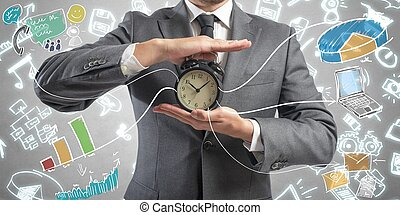 Time is money - Concept of time is money with businessman...