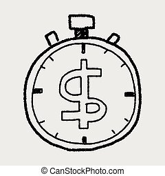 time is money doodle