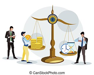 Time is money. Estimation of the working hours. In ...