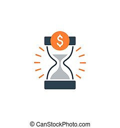 Time is money, finance concept, bank savings account, insurance and pension idea