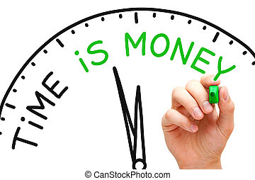 Time is Money - Hand writing Time is Money concept with...