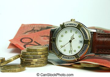Time is Money - Conceptual image of 'time and money' / 'time...