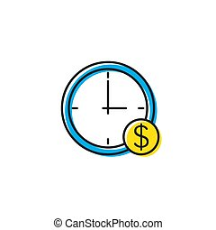 Time is money vector icon isolated on white background