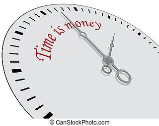 Time is money written on a watch