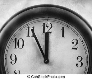 time is running out, it's five minutes to twelve, this black...